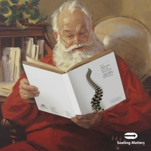 Santa got what he wanted this Christmas, a copy of The Clinician's Seating Handbook!